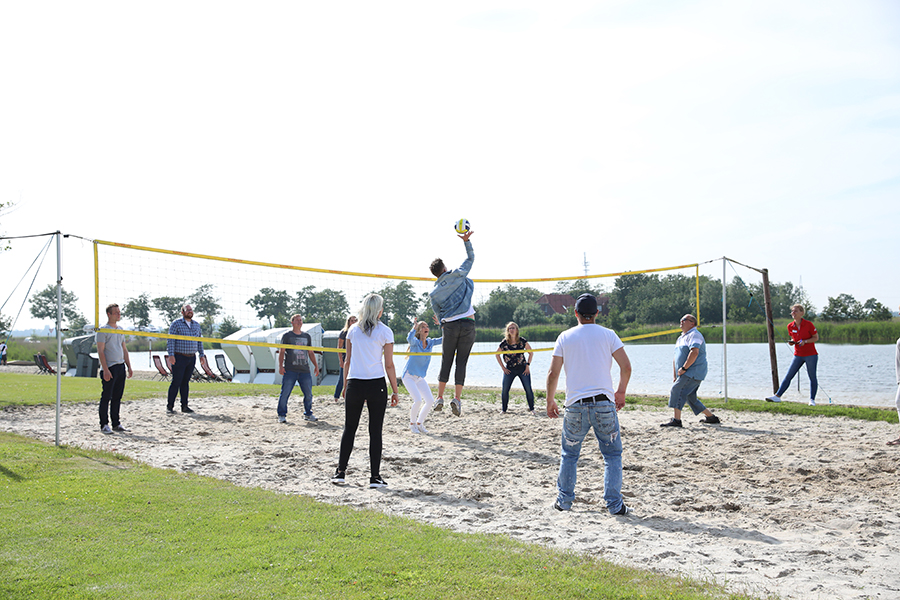 Beachvolleyball spielen im Wangerland