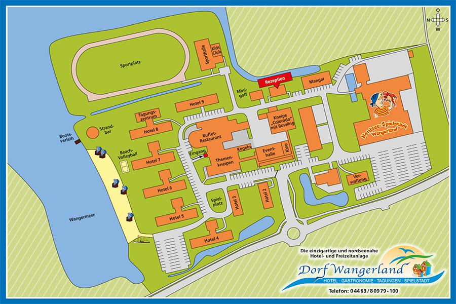 Lageplan Dorf Wangerland